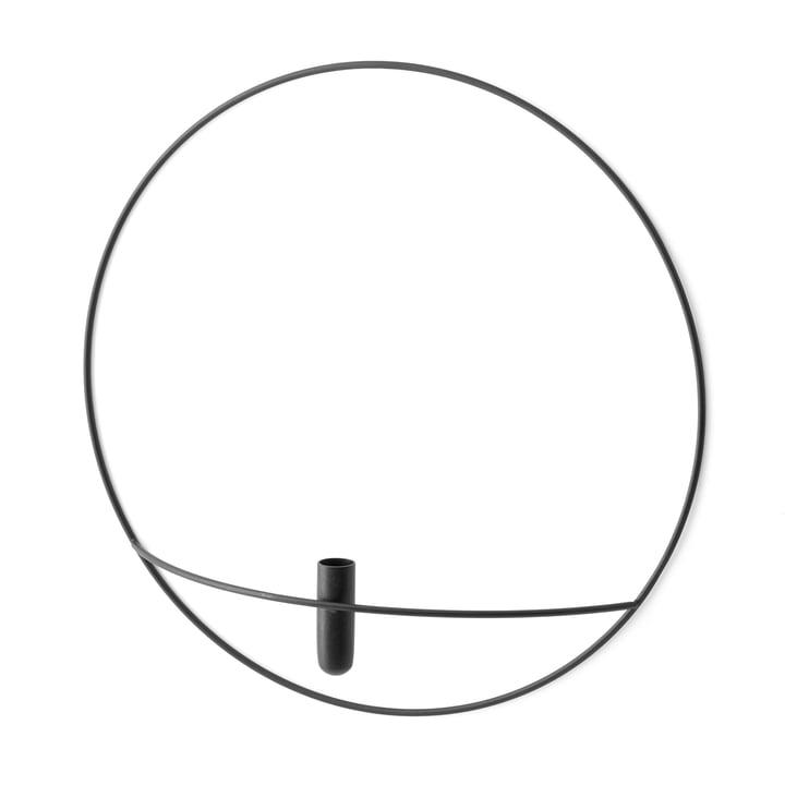 Pov Circle Vase L von Menu in Schwarz