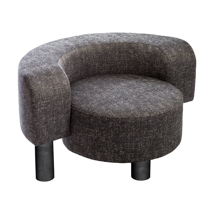 Der Pulpo - Pow Easy Chair in granite / silver grey