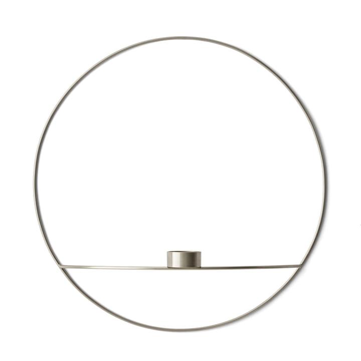 Der Menu - Pov Circle Teelichthalter, L in silber