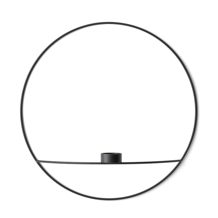Der Menu - Pov Circle Teelichthalter, L in schwarz