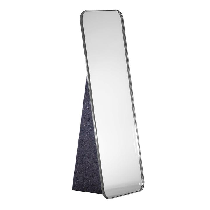 Olivia Tischspiegel H 38 cm von Pulpo in Silber / Standfuß Schwarz
