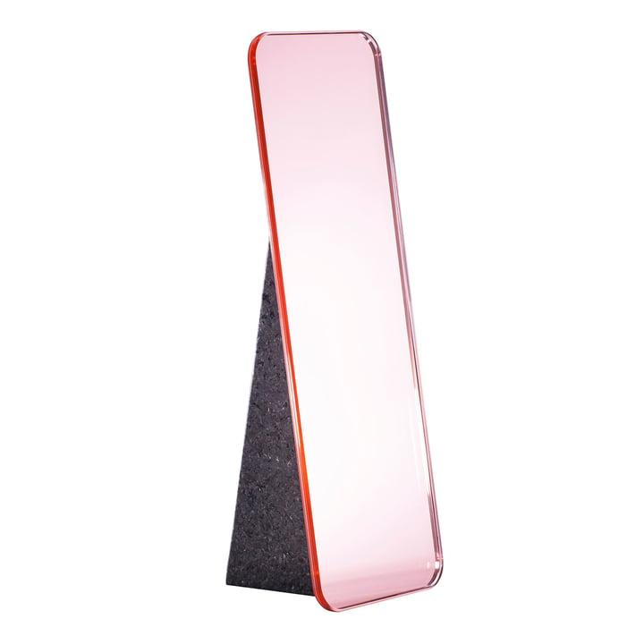 Olivia Tischspiegel H 38 cm von Pulpo in Rosa / Standfuß Schwarz