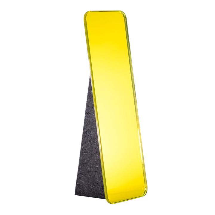 Olivia Tischspiegel H 38 cm von Pulpo in Lime Yellow / Standfuß Schwarz