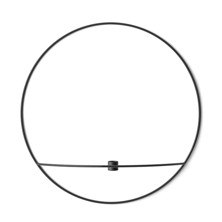 Der Menu - Pov Circle Kerzenhalter, L in schwarz