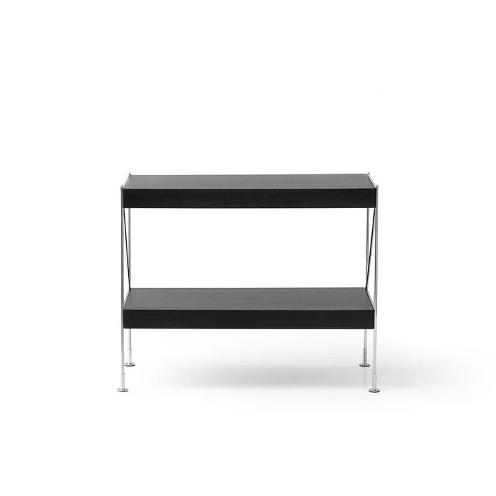 Menu - Zet Storing System Sideboard, 1 x 2, Chrom / schwarz
