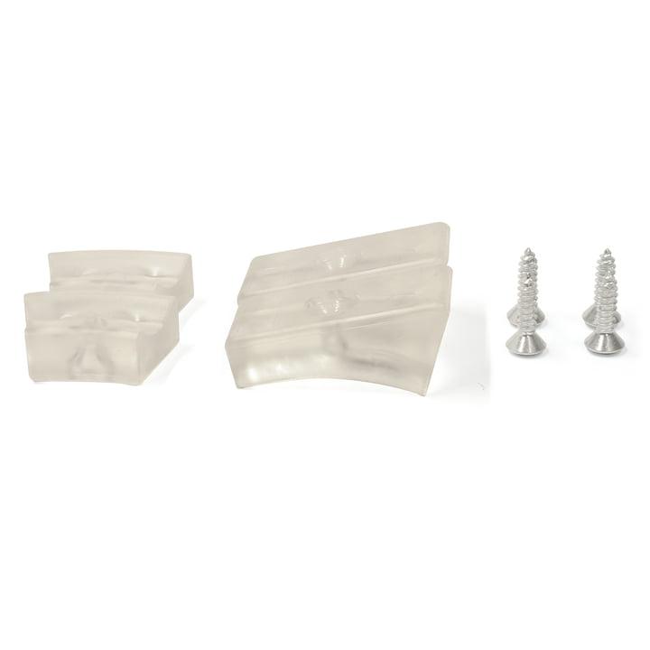 Thonet - Gleiter für Stahlrohr-Freischwinger, Kunststoffgleiter / transparent