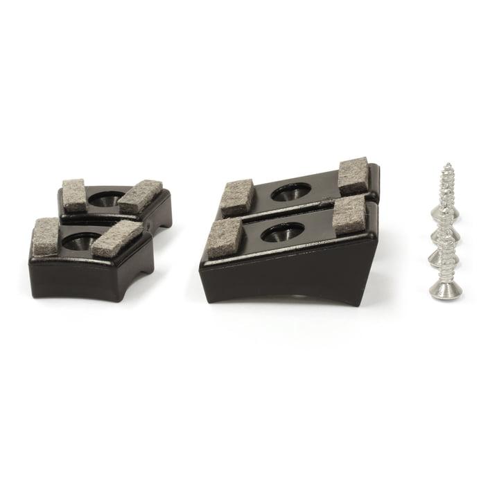 Thonet - Gleiter für Stahlrohr-Freischwinger, Kunststoffgleiter mit Filzeinlage / schwarz