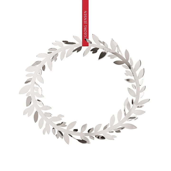 Weihnachtsschmuck Magnolia Kranz von Georg Jensen in palladium