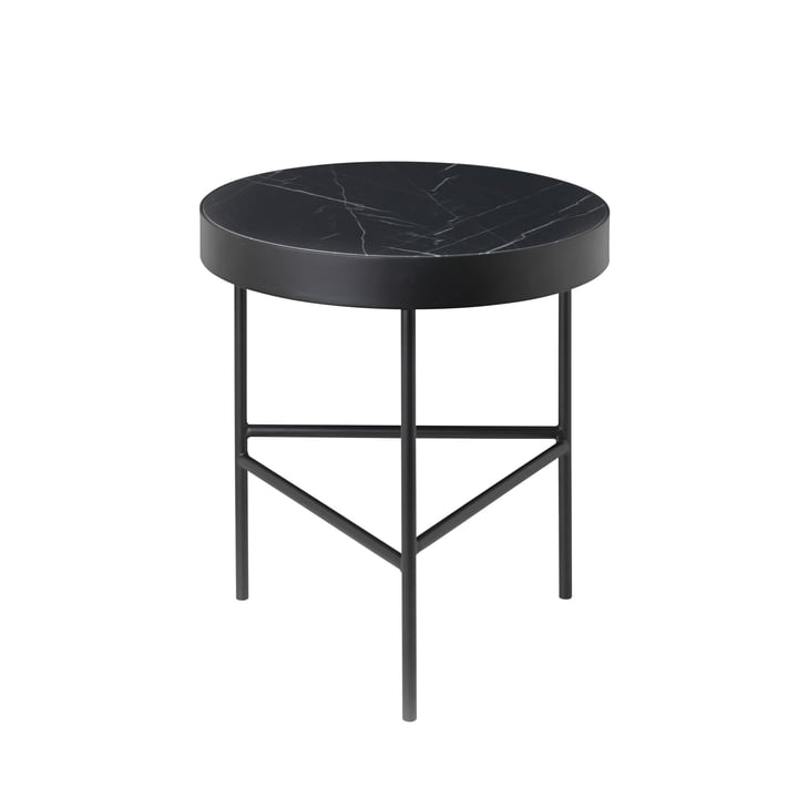 ferm Living - Marble Table medium, schwarz