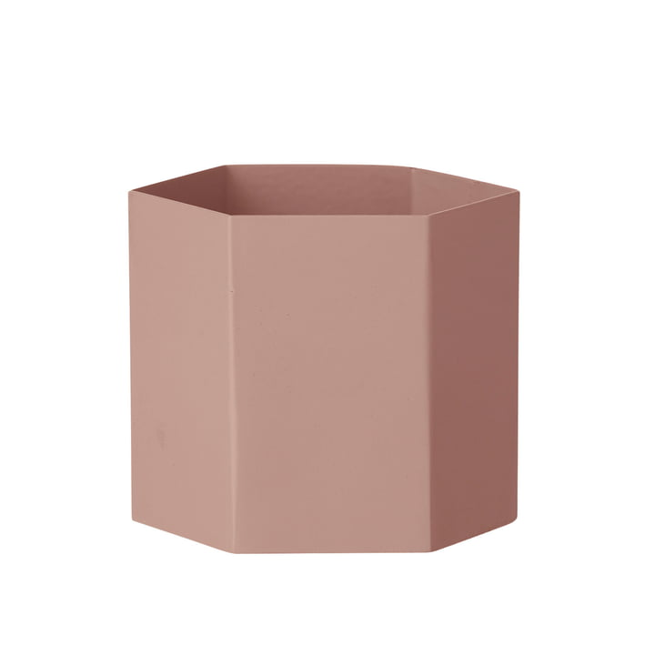 Hexagon Topf large von ferm Living in Rosa