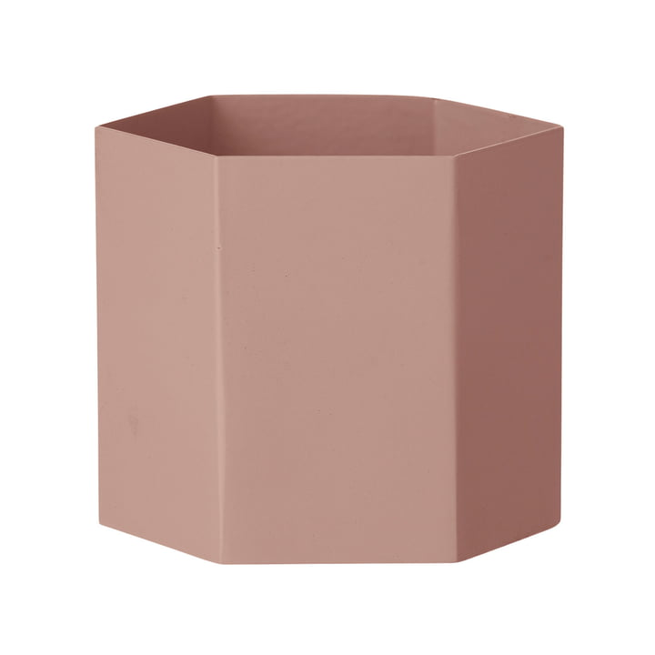 Hexagon Topf x-large von ferm Living in Rosa