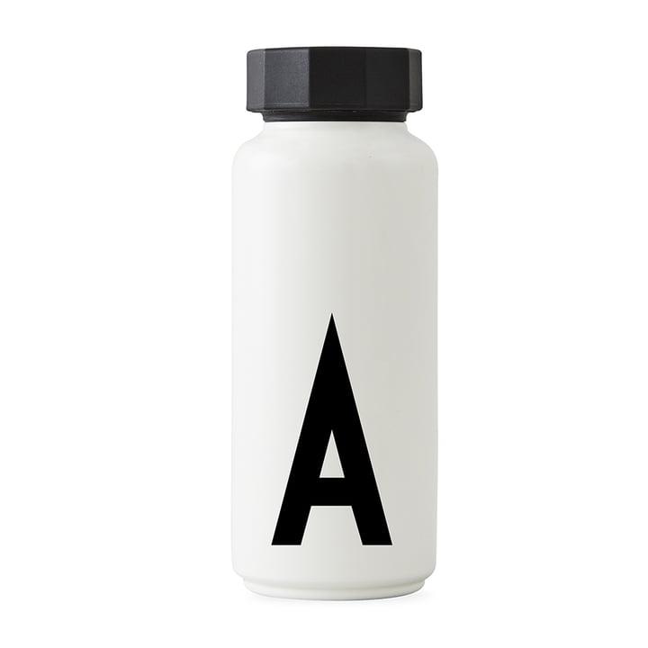 AJ Thermoflasche A von Design Letters in Weiß