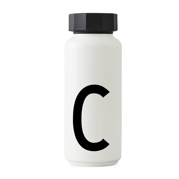 AJ Thermoflasche C von Design Letters in Weiß