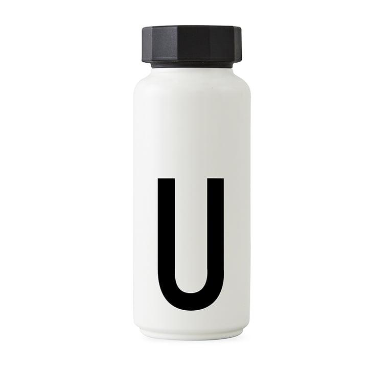 AJ Thermoflasche U von Design Letters in Weiß