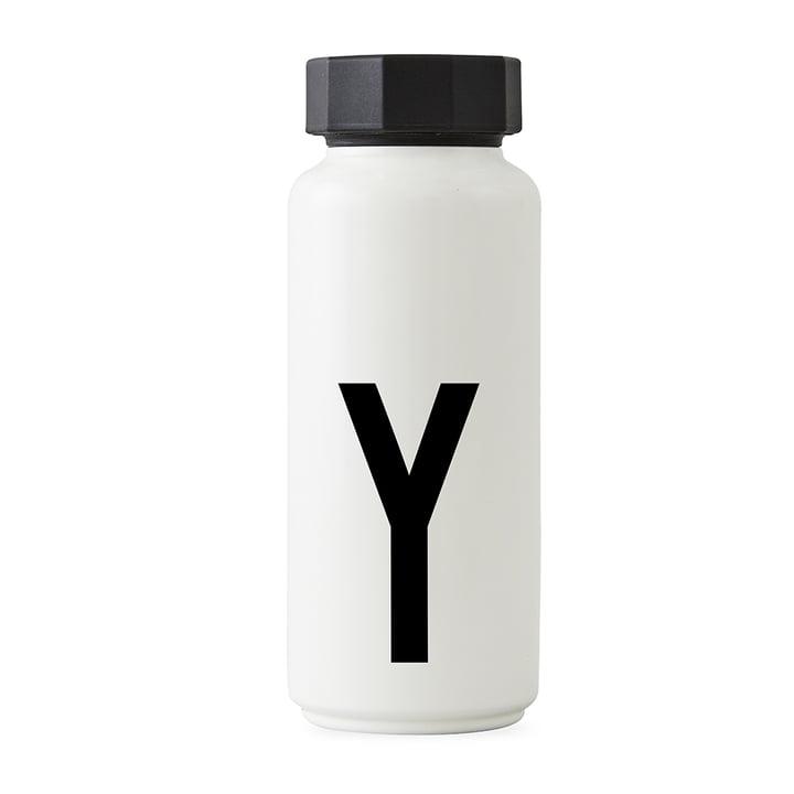 AJ Thermoflasche Y von Design Letters in Weiß