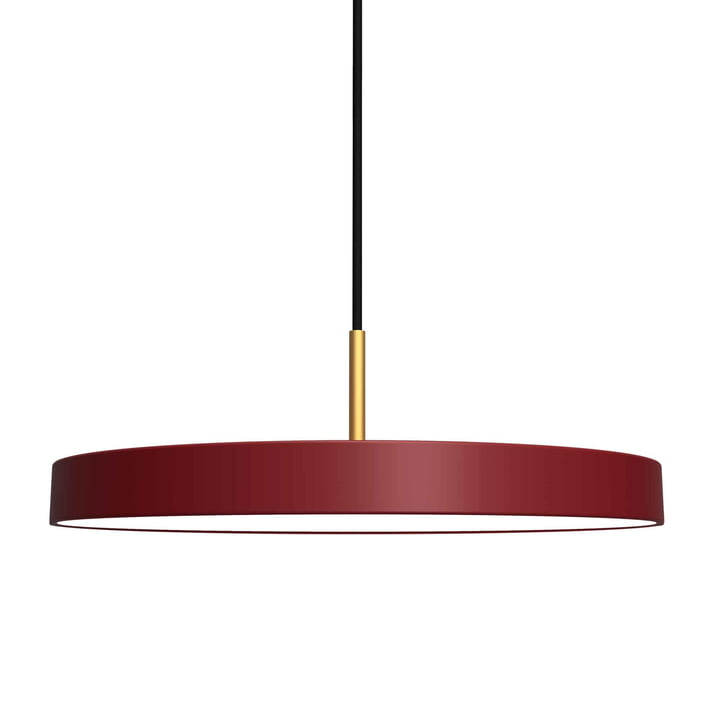 Asteria Pendelleuchte LED von Umage in ruby red