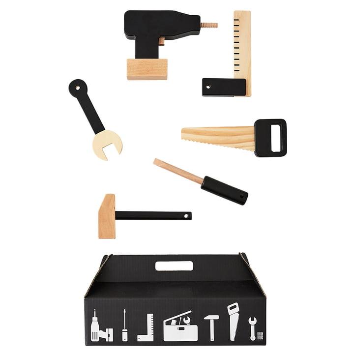 Tool School Werkzeug Spielzeug Set (6 tlg.) von Design Letters in Schwarz