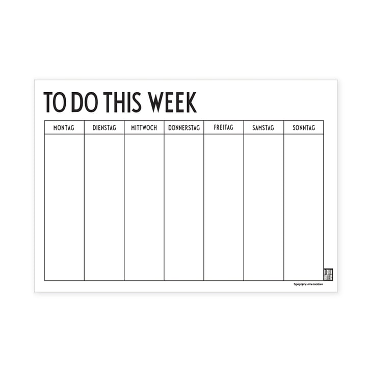 Weekly Planner A4 (Sprache: Deutsch) von Design Letters