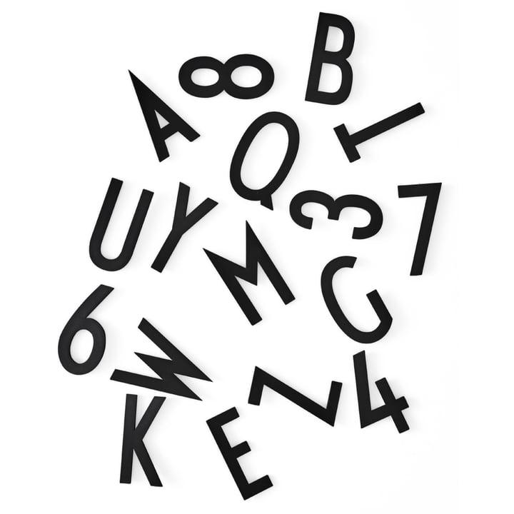 Buchstaben-Set H 5 cm von Design Letters in Schwarz