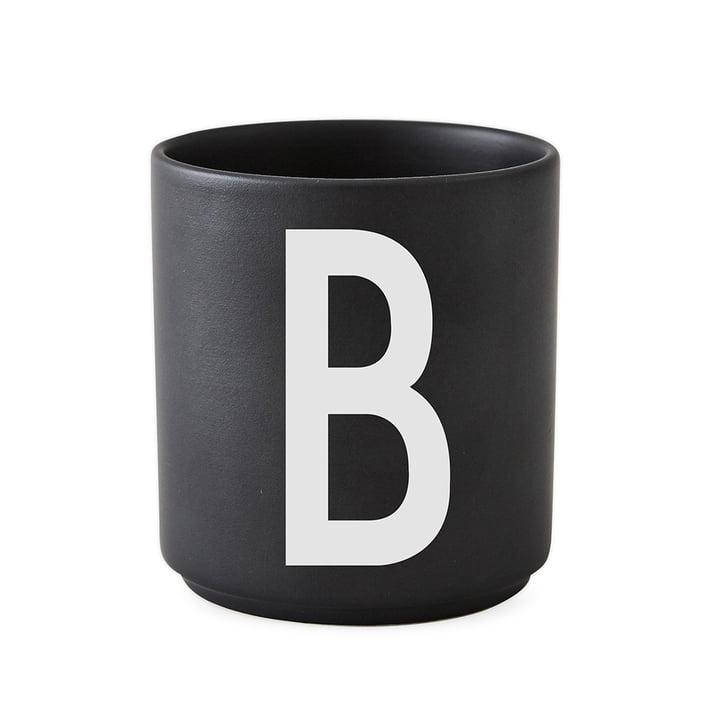 AJ Porzellan Becher B von Design Letters in Schwarz