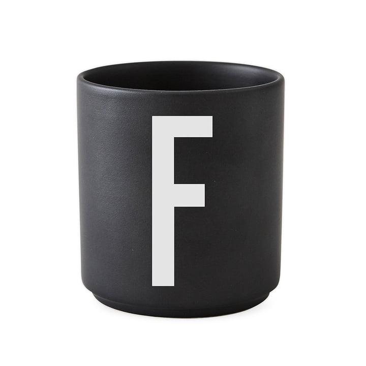 AJ Porzellan Becher F von Design Letters in Schwarz
