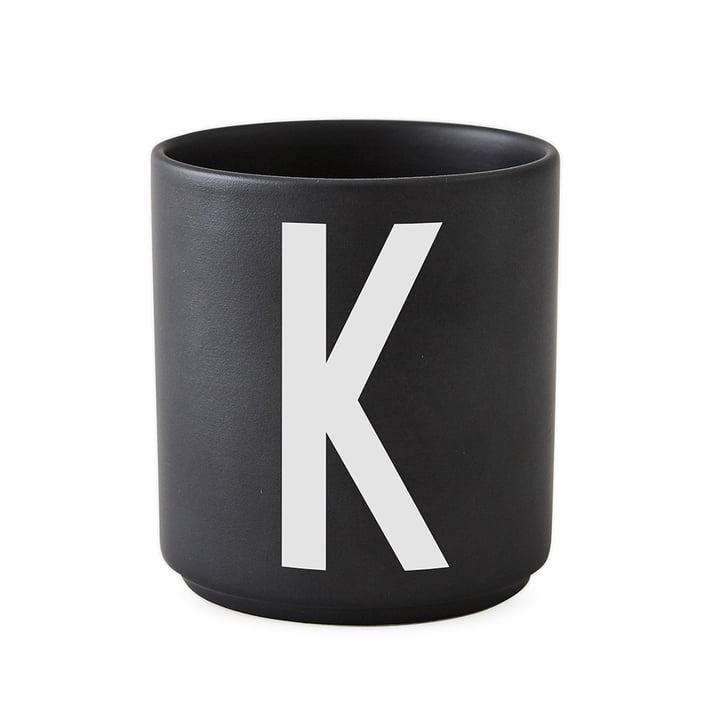 AJ Porzellan Becher K von Design Letters in Schwarz