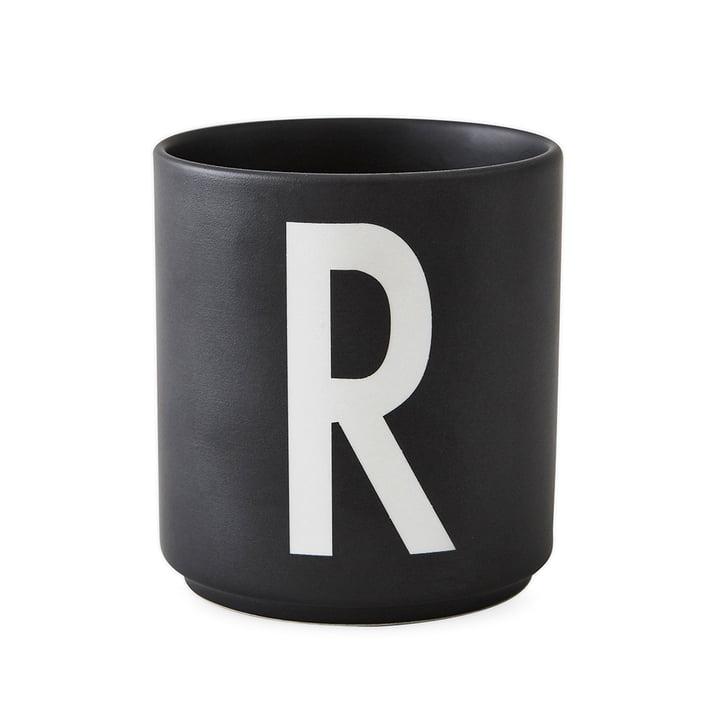 AJ Porzellan Becher R von Design Letters in Schwarz
