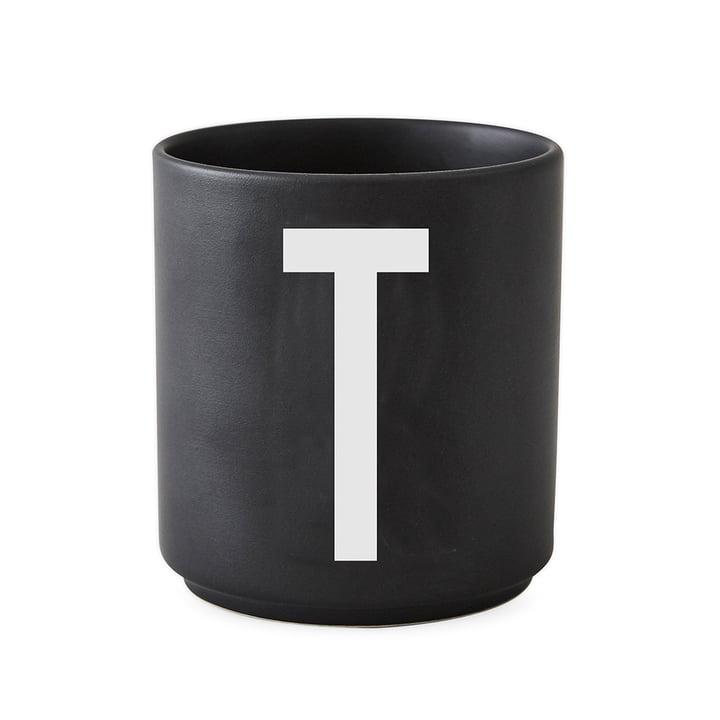 AJ Porzellan Becher T von Design Letters in Schwarz