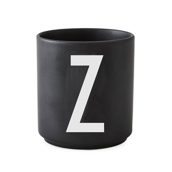AJ Porzellan Becher Z von Design Letters in Schwarz