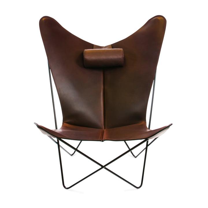 KS Sessel von Ox Denmarq aus Stahl Schwarz / Leder Mocca