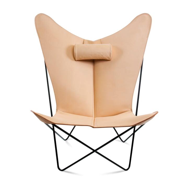 KS Sessel von Ox Denmarq aus Stahl Schwarz / Leder Natur