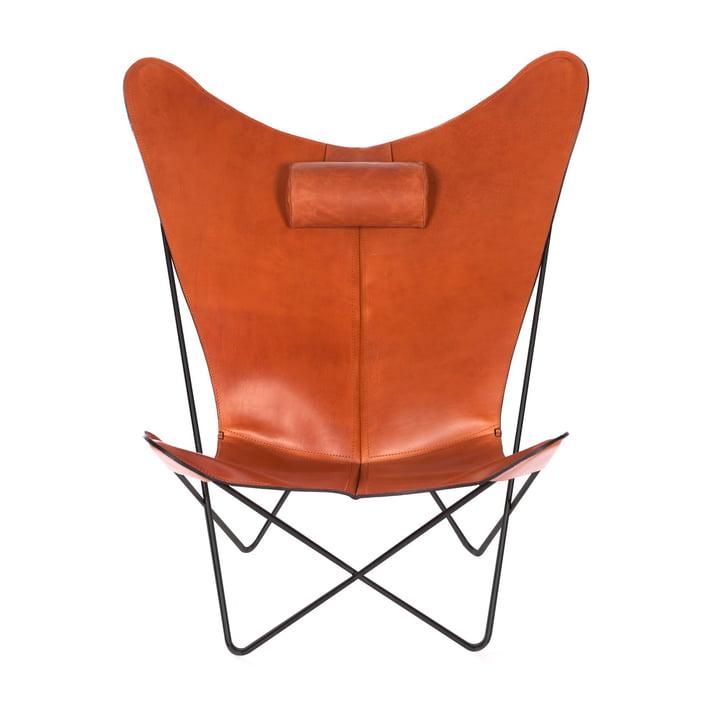 KS Sessel von Ox Denmarq aus Stahl Schwarz / Leder Haselnuss