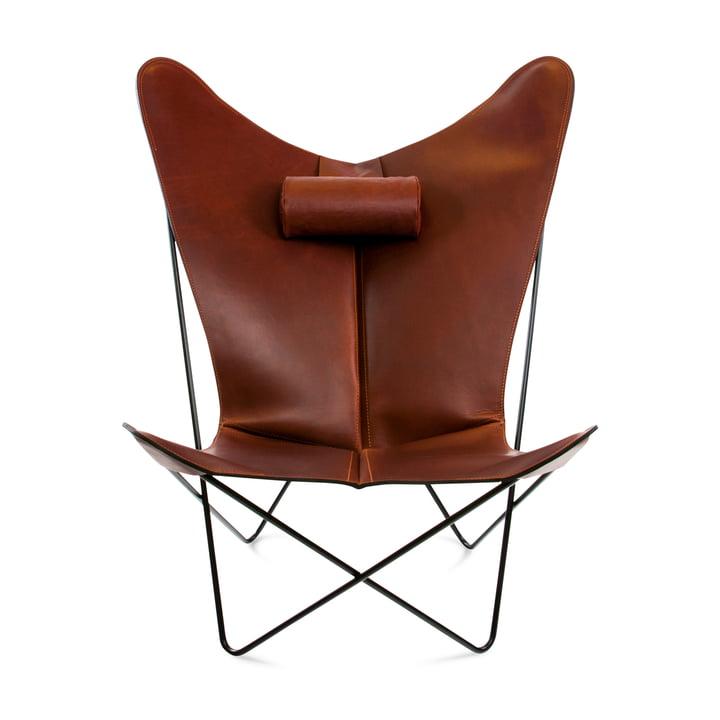 KS Sessel von Ox Denmarq aus Stahl Schwarz / Leder Cognac