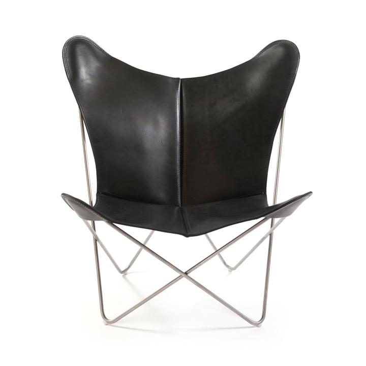 Ox Denmarq - Trifolium Chair, Edelstahl/ Leder schwarz