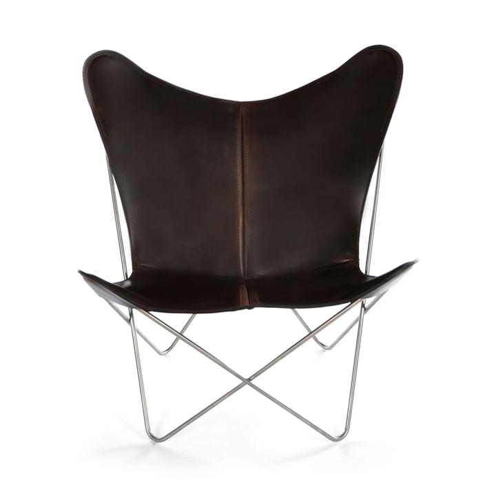 Ox Denmarq - Trifolium Chair, Edelstahl/ Leder mocca