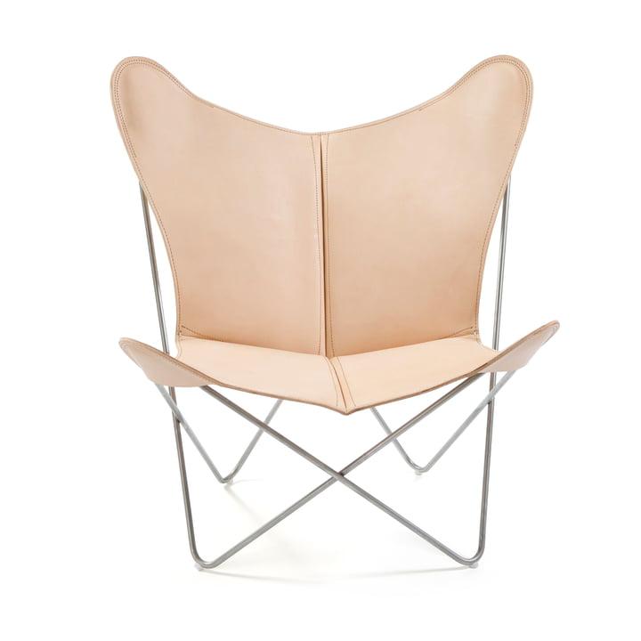 Ox Denmarq - Trifolium Chair, Edelstahl/ Leder natur