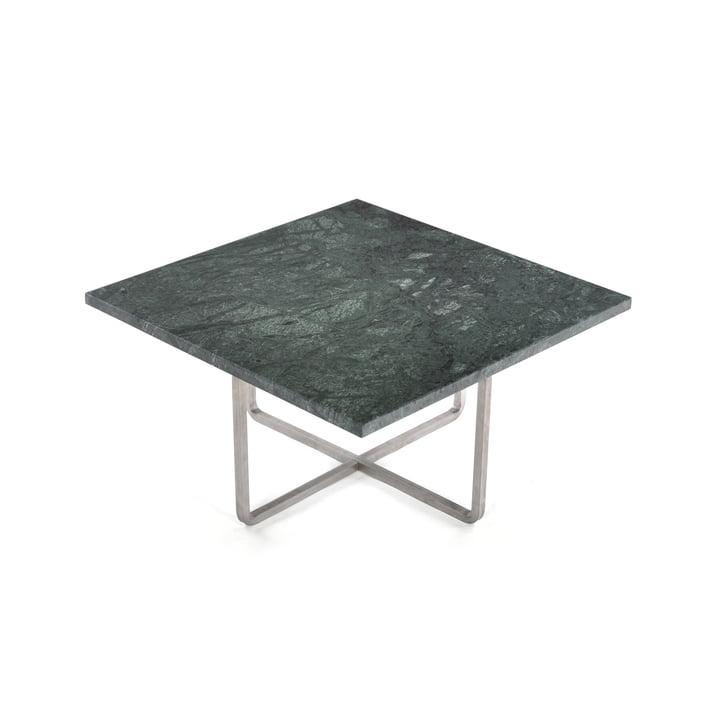 Ninety Couchtisch 60 x 60 cm von Ox Denmarq aus Edelstahl / Marmor Grün