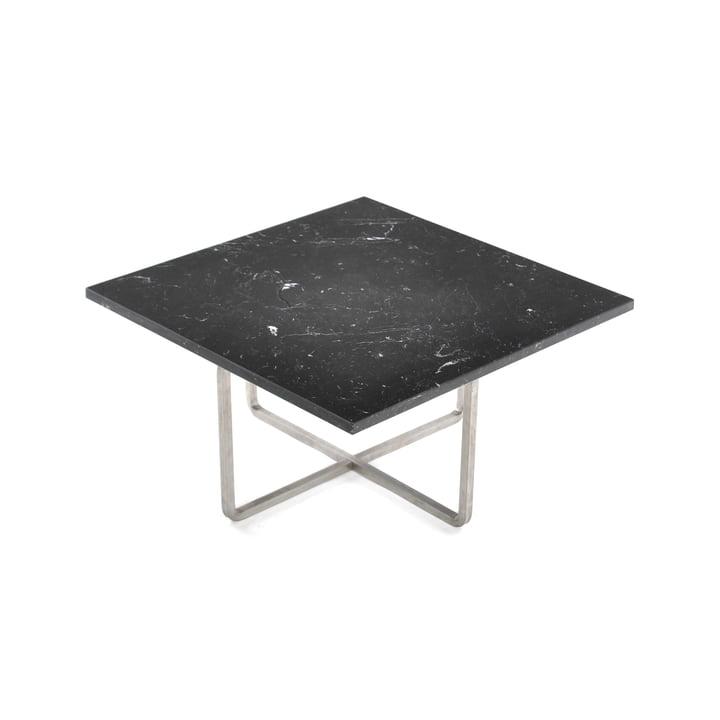 Ninety Couchtisch 60 x 60 cm von Ox Denmarq aus Edelstahl / Marmor Schwarz