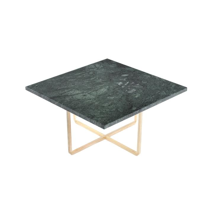 Ninety Couchtisch 60 x 60 cm von Ox Denmarq aus Messing / Marmor Grün