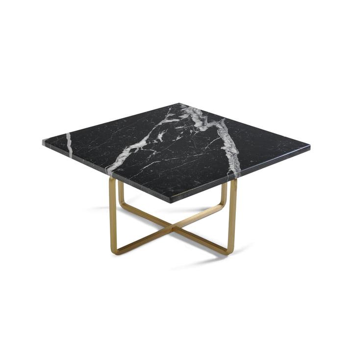 Ninety Couchtisch 60 x 60 cm von Ox Denmarq aus Messing / Marmor Schwarz