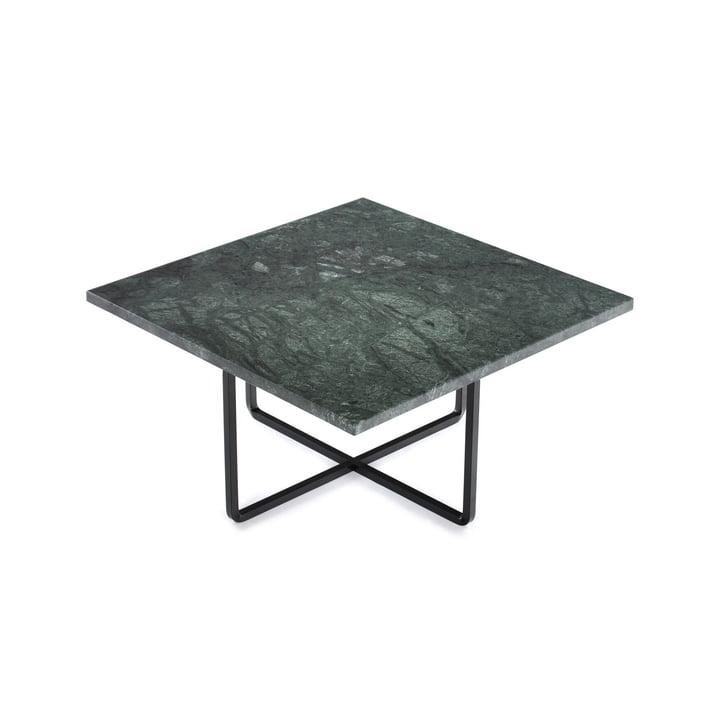 Ninety Couchtisch 60 x 60 cm von Ox Denmarq aus Stahl Schwarz / Marmor Grün