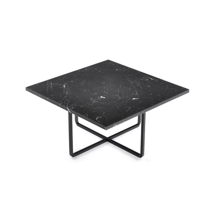 Ninety Couchtisch 60 x 60 cm von Ox Denmarq aus Stahl Schwarz / Marmor Schwarz