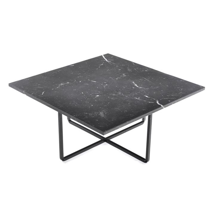Ninety Couchtisch 80 x 80 cm von Ox Denmarq aus Stahl Schwarz / Marmor Schwarz