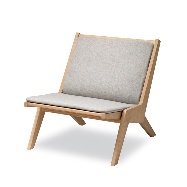 Miskito Lounge Chair von Skagerak in Eiche / Hellgrau