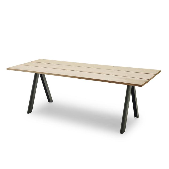 Overlap Tisch von Skagerak in Jagdgrün
