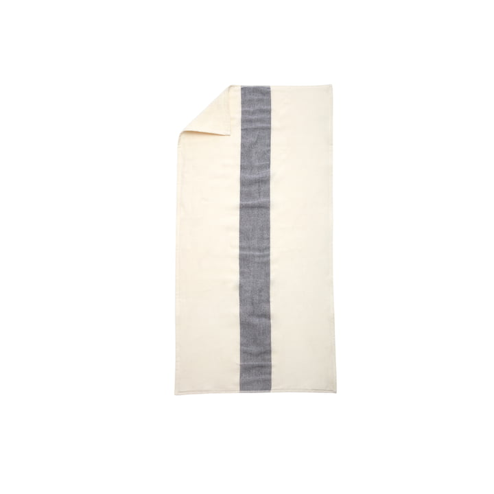 Stripes Towel Handtuch 50 x 100 cm von Skagerak in Whisper White / Dark Blue