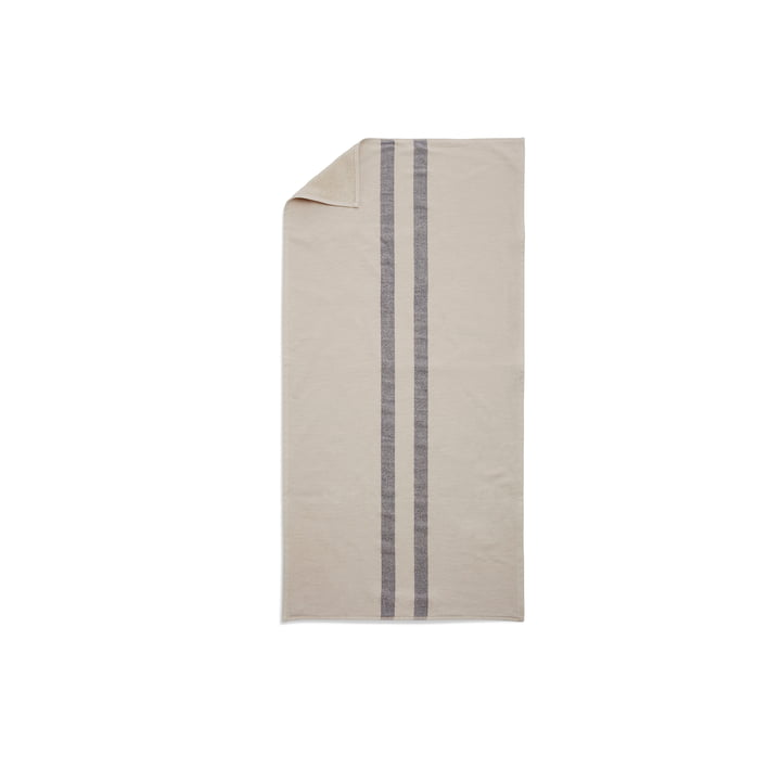 Stripes Towel Handtuch 50 x 100 cm von Skagerak in Cream / Dark Blue