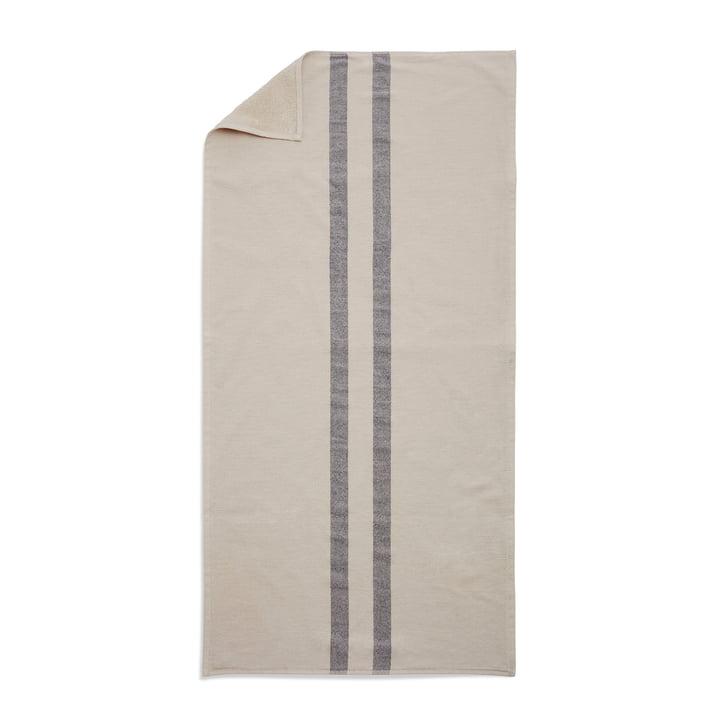 Skagerak - Stripes Towel Badetuch, 70 x 140 cm, cream / dark blue