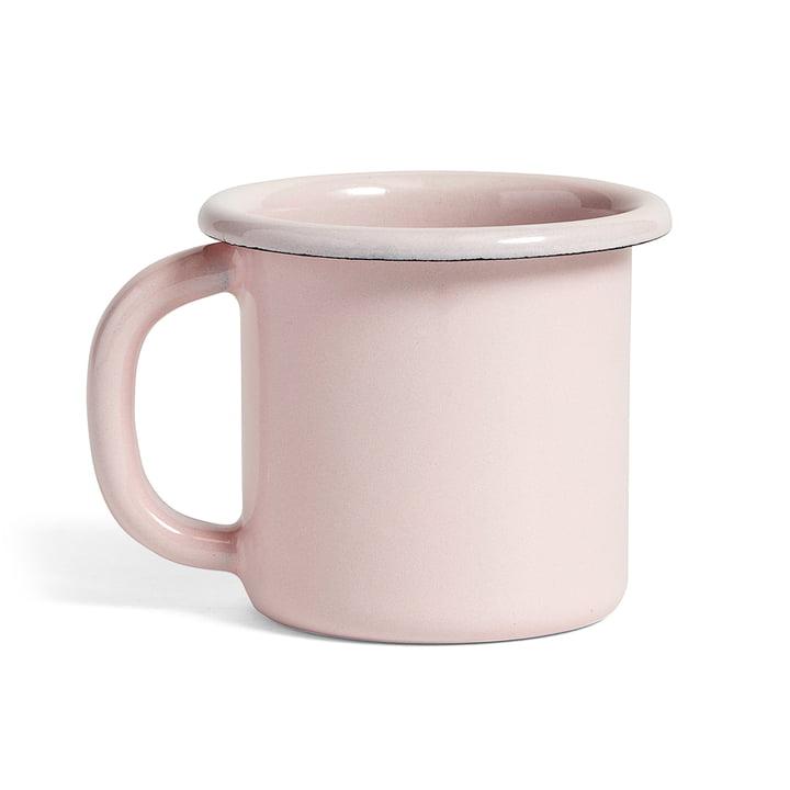 Emaille Becher mit Henkel von Hay in Soft Pink