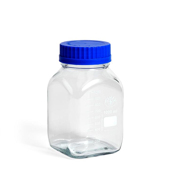 Das Hay - Laborglas mit Deckel L in eckig / blau